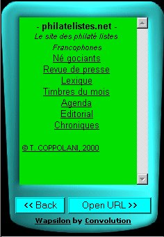 Philatelistes.net sur PDA